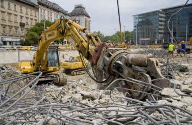 Budapest, Kálvin-téri metróaluljáró bontása